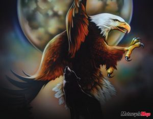 Airbrush Eagle on Motorcycle Gas Tank