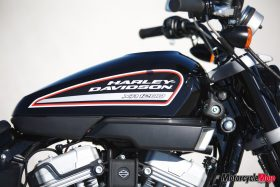 Side image of the XR1200 gas tank