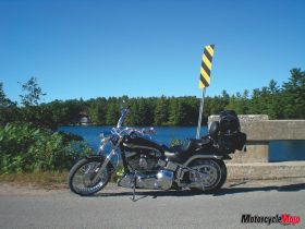Motorcycle ride along the backroads of Algonquin