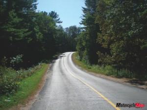 Winding roads of Algonquin Park Ontario