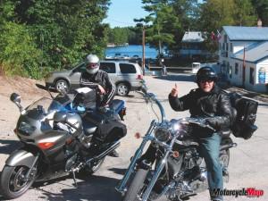 Riding tour through the national park of Algonquin