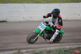 Green dirt track racer