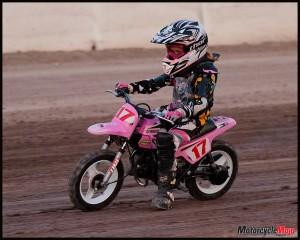 Young Girl riding bike