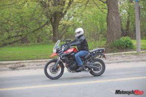 riding with helmet