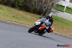 testing the KTM 1290 Super Duke