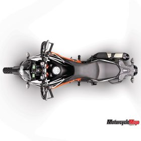 Top View of the 2017 KTM 1090 Adventure R