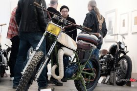 Artistic Motorcycles on Display