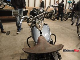 Throttles of a Custom Yamaha Motorcycle at the the Oil and Rust Motorcycle Show