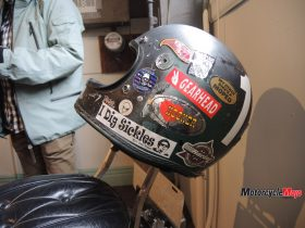 Motorcycle Helmet at the Oil and Rust Motorcycle Show