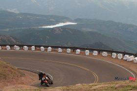 Riding a 2015 KTM Super Duke 1290R By a Mountain Range