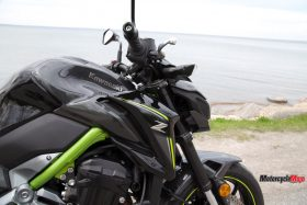 Throttle of the Kawasaki Z900 ABS