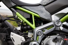 The Seat of the Kawasaki Z900 ABS