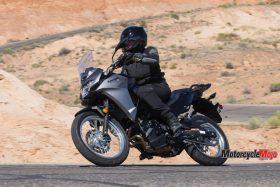 Riding The 2017 Kawasaki Versys-X 300 on a Desert Highway