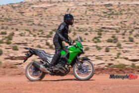 The 2017 Kawasaki Versys-X 300 on Dirt