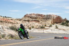Riding the The 2017 Kawasaki Versys-X 300 in the Desert