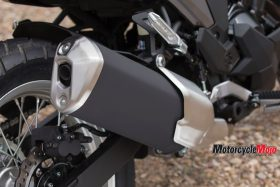 Exhaust of the The 2017 Kawasaki Versys-X 300