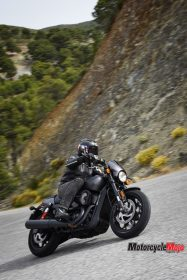 Riding Past a Mountain on the 2017 Harley Davidson Street Rod