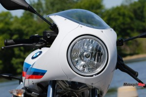 The Headlight of The 2017 BMW R nineT Racer