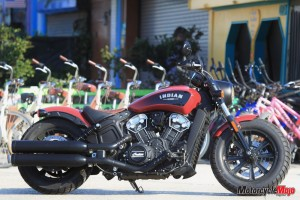 2018 Indian Bobber in Front of Bikes