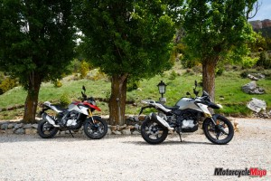 The 2018 BMW G310GS At A Park