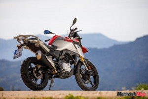 The 2018 BMW G310GS In Front of Mountains