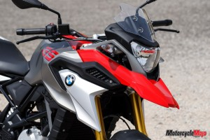 Front of The 2018 BMW G310GS