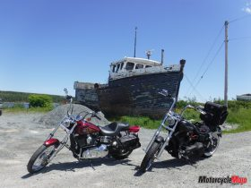 Stopping By A Boat On Cabot Trail