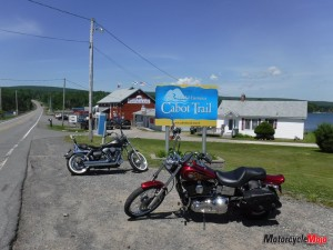 Stopping in a small town on Cabot Trail