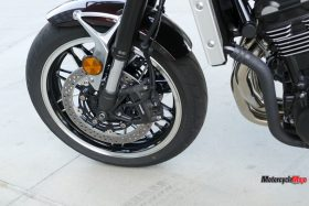 Front Wheel of The 2018 Kawasaki Z900RS SE