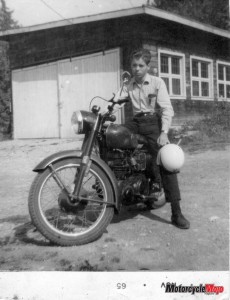 Wally on his 1st bike in 1965