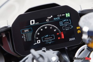 Spedometer of the 2019 BMW S1000RR
