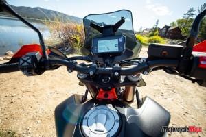 Dashboard of the 2019 KTM 790 Adventure